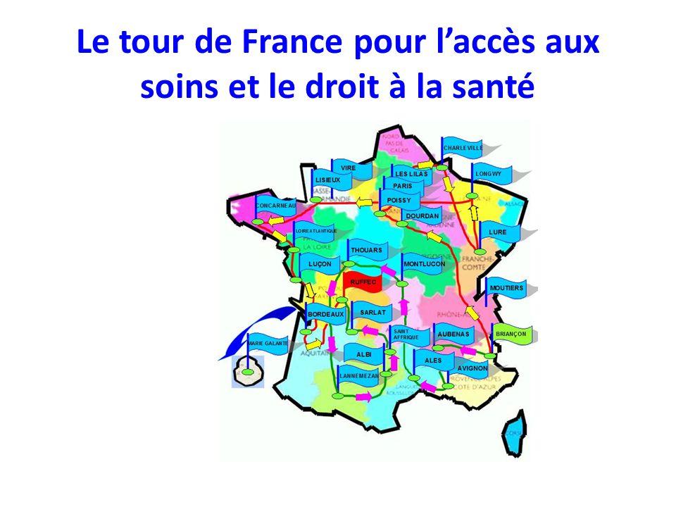 Le tour de France pour laccès aux soins et le droit à la santé