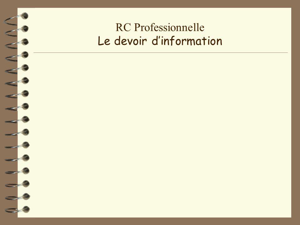 RC Professionnelle Lavant sinistre Pratique quotidienne