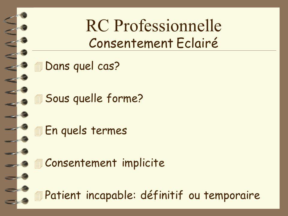 RC Professionnelle Le devoir dinformation
