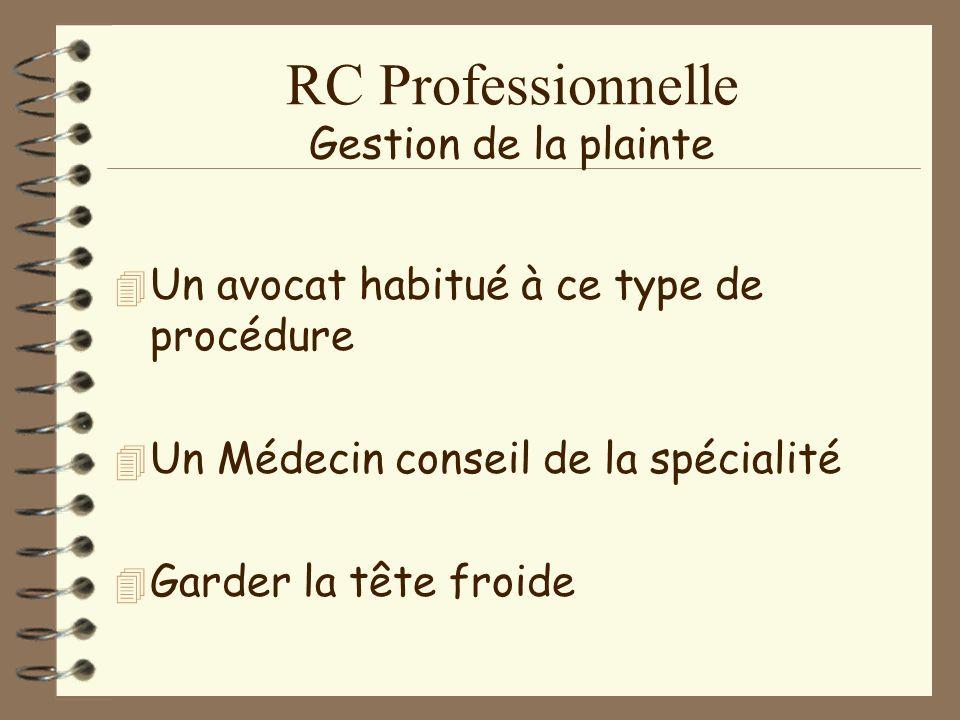 RC Professionnelle Déclaration 4D4Déclaration –à–à titre conservatoire.