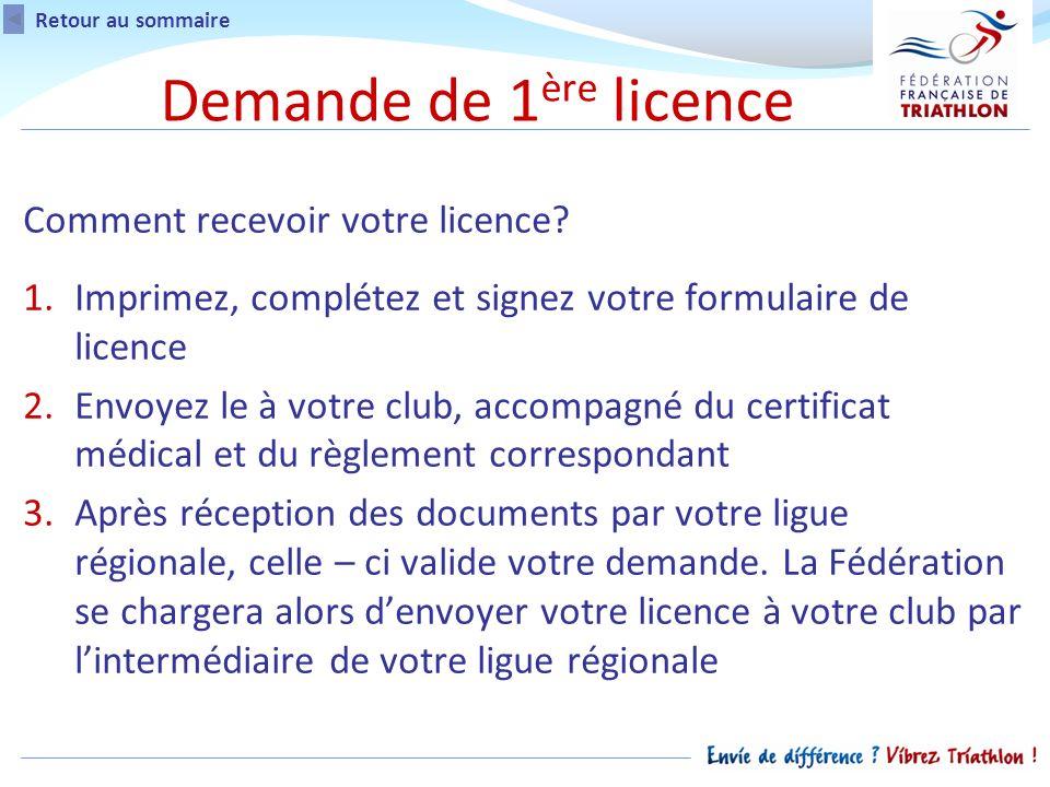 Comment recevoir votre licence.