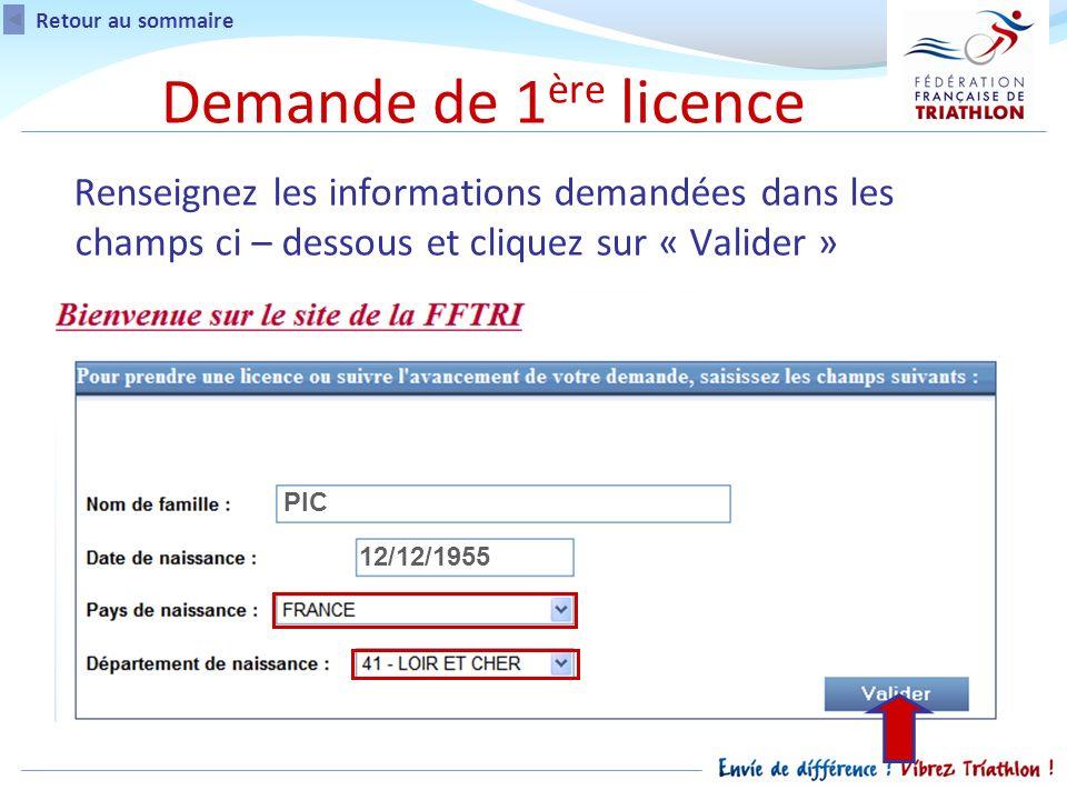 Attention: Si vous navez pas la possibilité dimprimer le formulaire lors de votre demande de licence, vous pourrez limprimer ultérieurement en vous rendant sur votre espace licencié dans lencart « Suivi de la demande de licence ».
