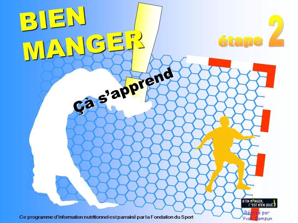Réalisé par Yvon Samzun Çà sapprend BIEN MANGER Ce programme dinformation nutritionnel est parrainé par la Fondation du Sport