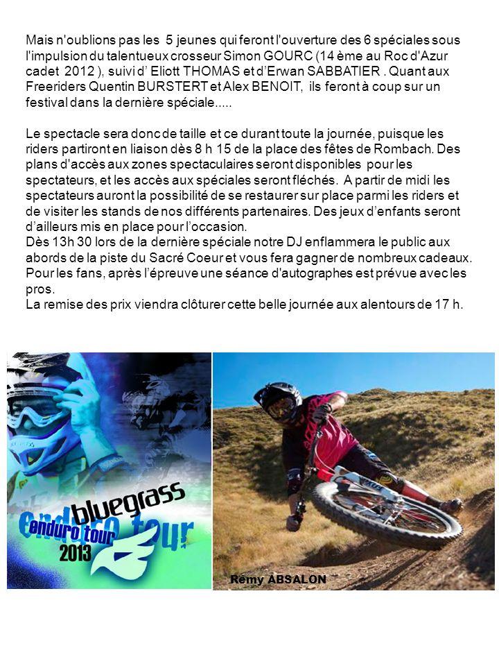 Mais n'oublions pas les 5 jeunes qui feront l'ouverture des 6 spéciales sous l'impulsion du talentueux crosseur Simon GOURC (14 ème au Roc d'Azur cade