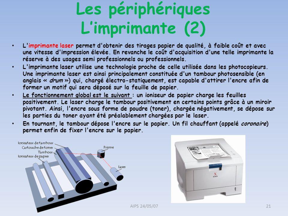 L'imprimante laser permet d'obtenir des tirages papier de qualité, à faible coût et avec une vitesse d'impression élevée. En revanche le coût d'acquis