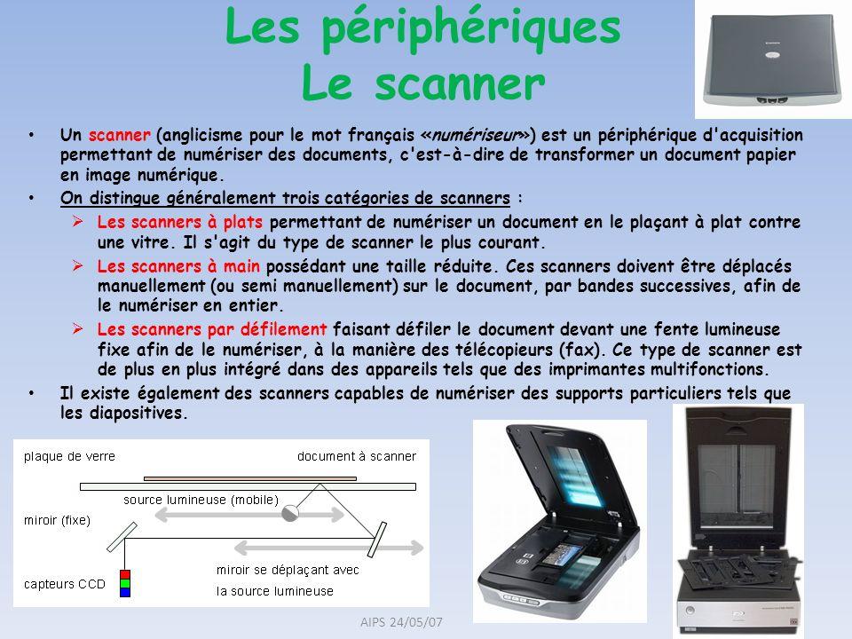 Un scanner (anglicisme pour le mot français «numériseur») est un périphérique d'acquisition permettant de numériser des documents, c'est-à-dire de tra