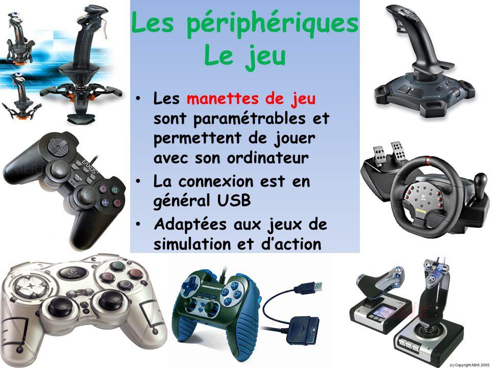 24 AIPS 24/05/07 Les périphériques Le jeu Les manettes de jeu sont paramétrables et permettent de jouer avec son ordinateur La connexion est en généra