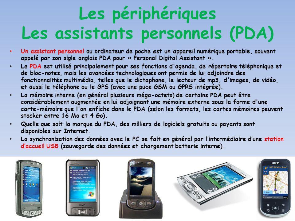 Un assistant personnel ou ordinateur de poche est un appareil numérique portable, souvent appelé par son sigle anglais PDA pour « Personal Digital Ass