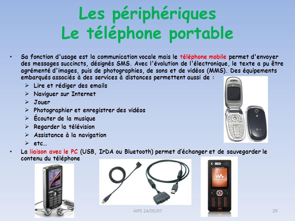 Sa fonction d'usage est la communication vocale mais le téléphone mobile permet d'envoyer des messages succincts, désignés SMS. Avec l'évolution de l'