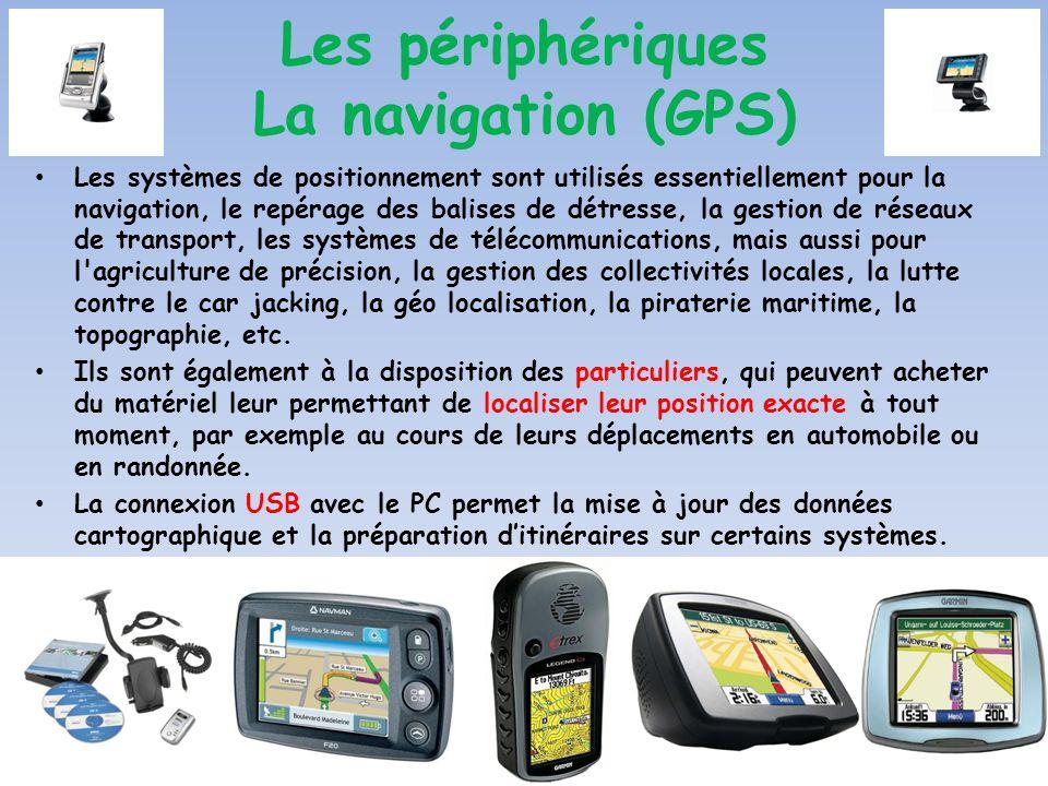 Les systèmes de positionnement sont utilisés essentiellement pour la navigation, le repérage des balises de détresse, la gestion de réseaux de transpo