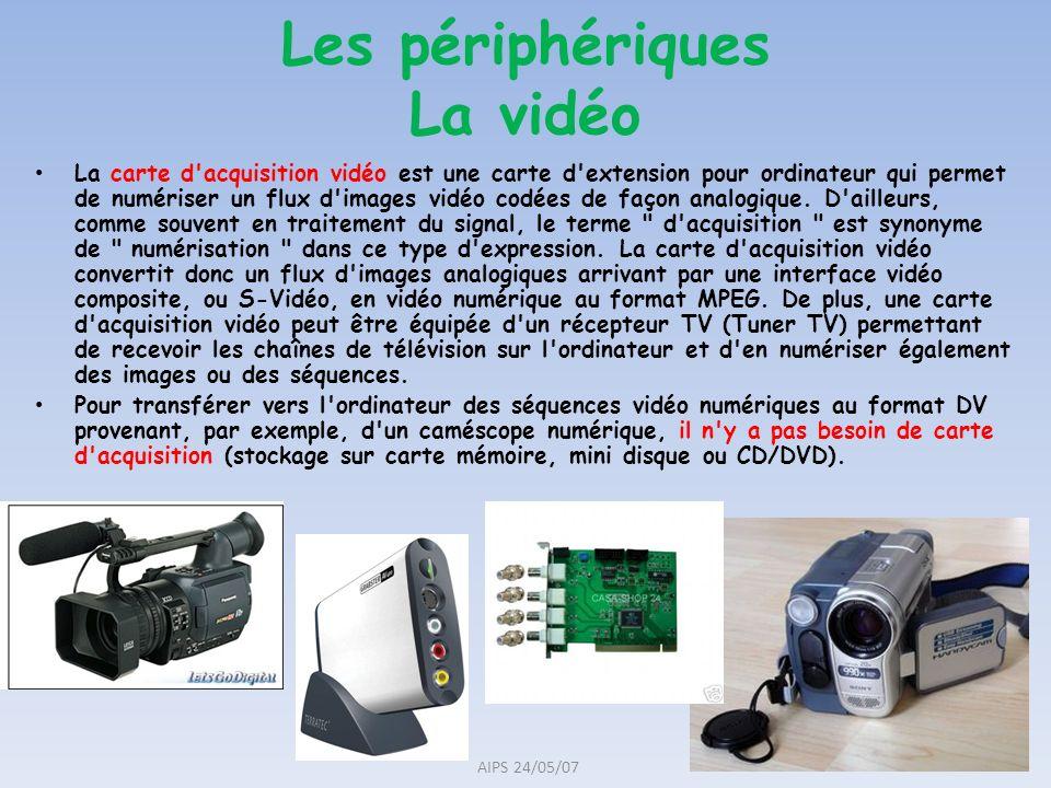 La carte d'acquisition vidéo est une carte d'extension pour ordinateur qui permet de numériser un flux d'images vidéo codées de façon analogique. D'ai