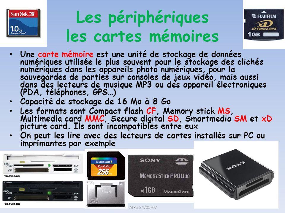 Une carte mémoire est une unité de stockage de données numériques utilisée le plus souvent pour le stockage des clichés numériques dans les appareils