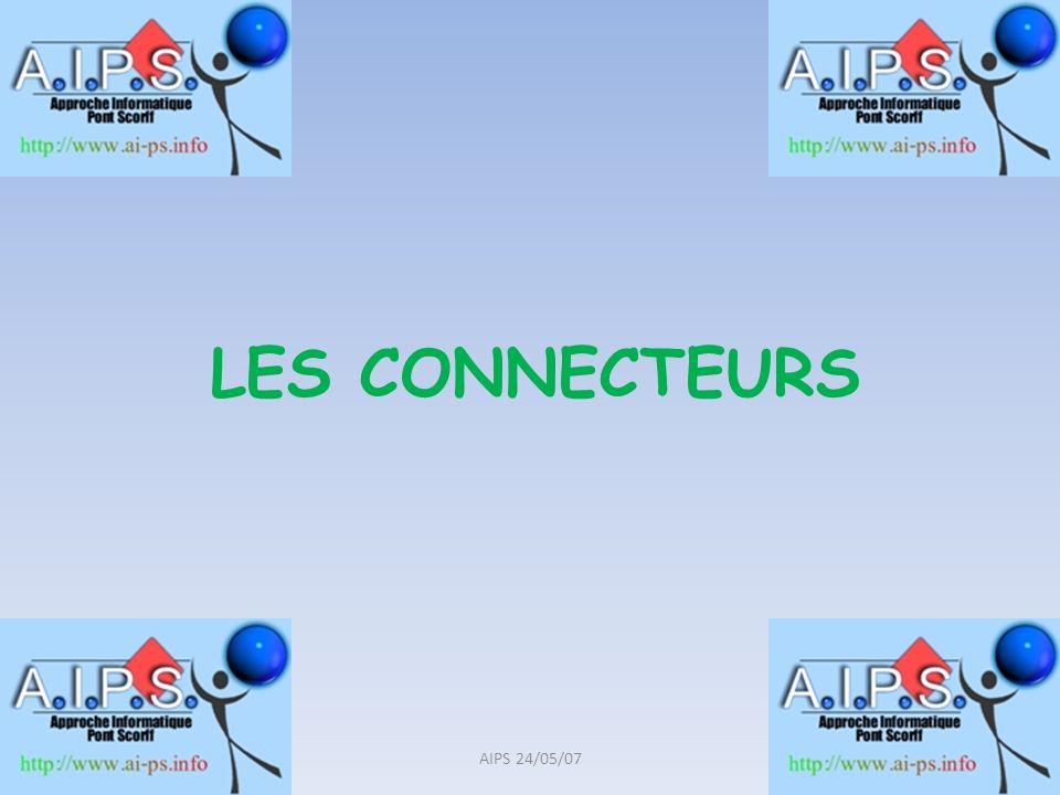 Les « ports » de lordinateur DB9, DB25: Série et parallèle (sur carte mère) USB (sur carte mère et carte USB) PS/2 : Souris et clavier (sur carte mère) VGA, DVI, HDMI, S/Video: Vidéo (sur carte graphique) Jack, RCA, Midi, S/PDIF, Optique: Micro, hauts- parleurs, jeux (sur carte son) RJ 11: Modem (sur carte modem téléphonique) RJ 45: Réseau (sur carte Ethernet) 5AIPS 24/05/07