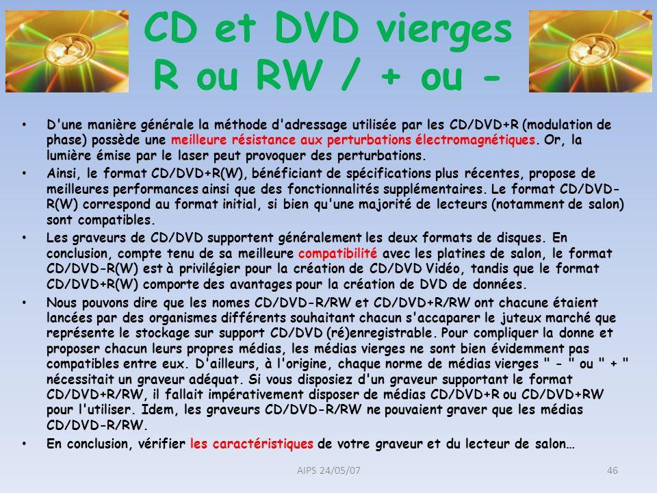 D'une manière générale la méthode d'adressage utilisée par les CD/DVD+R (modulation de phase) possède une meilleure résistance aux perturbations élect