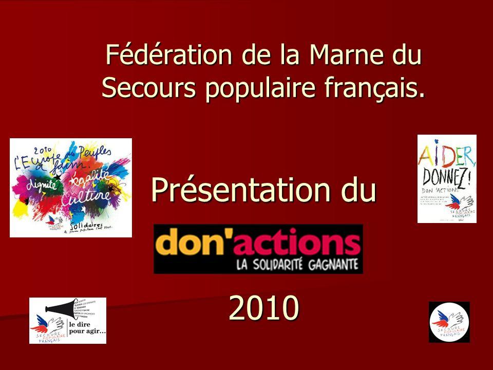 Fédération de la Marne du Secours populaire français. Présentation du 2010