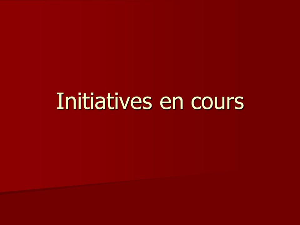 Initiatives en cours