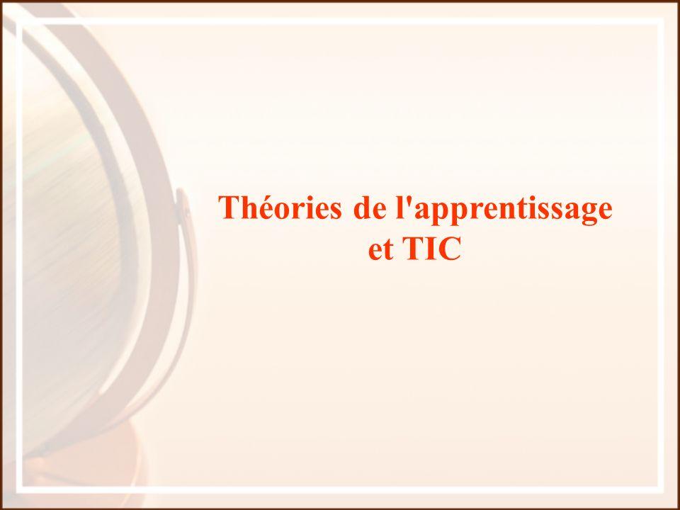 Théories de l'apprentissage et TIC