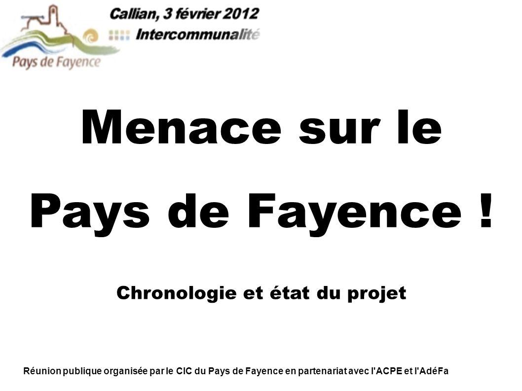 Menace sur le Pays de Fayence .