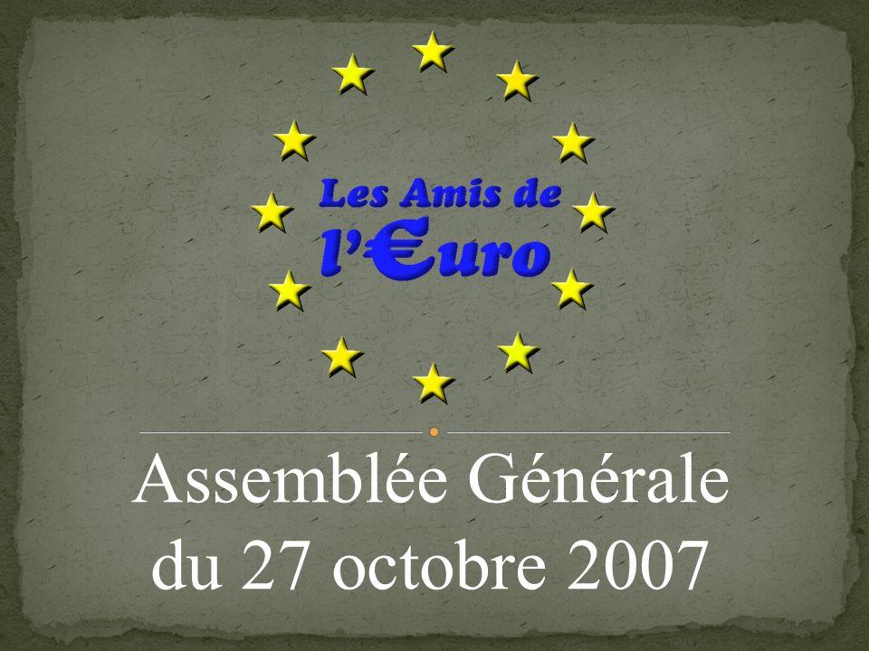 Projets pour 2007 / 2008 (suite) RUBRIQUE « LEXIQUE DE LA NUMISMATIQUE » La rubrique a vu le jour dans « Euro 4 » ; elle apparaîtra prochainement sur le site des Amis de lEuro.