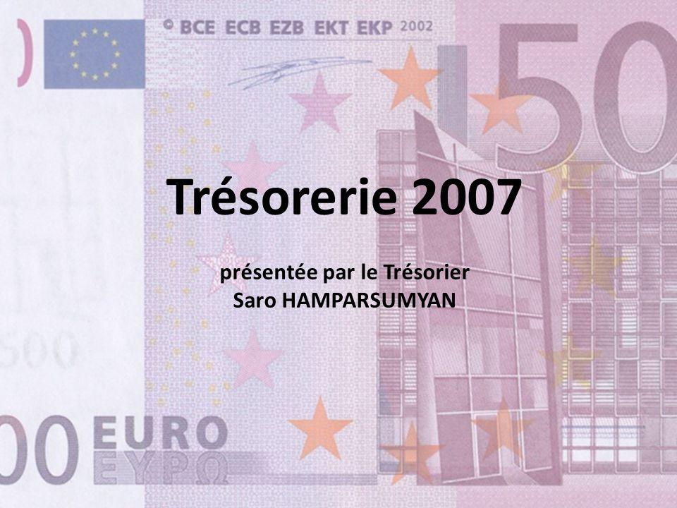 Trésorerie 2007 présentée par le Trésorier Saro HAMPARSUMYAN