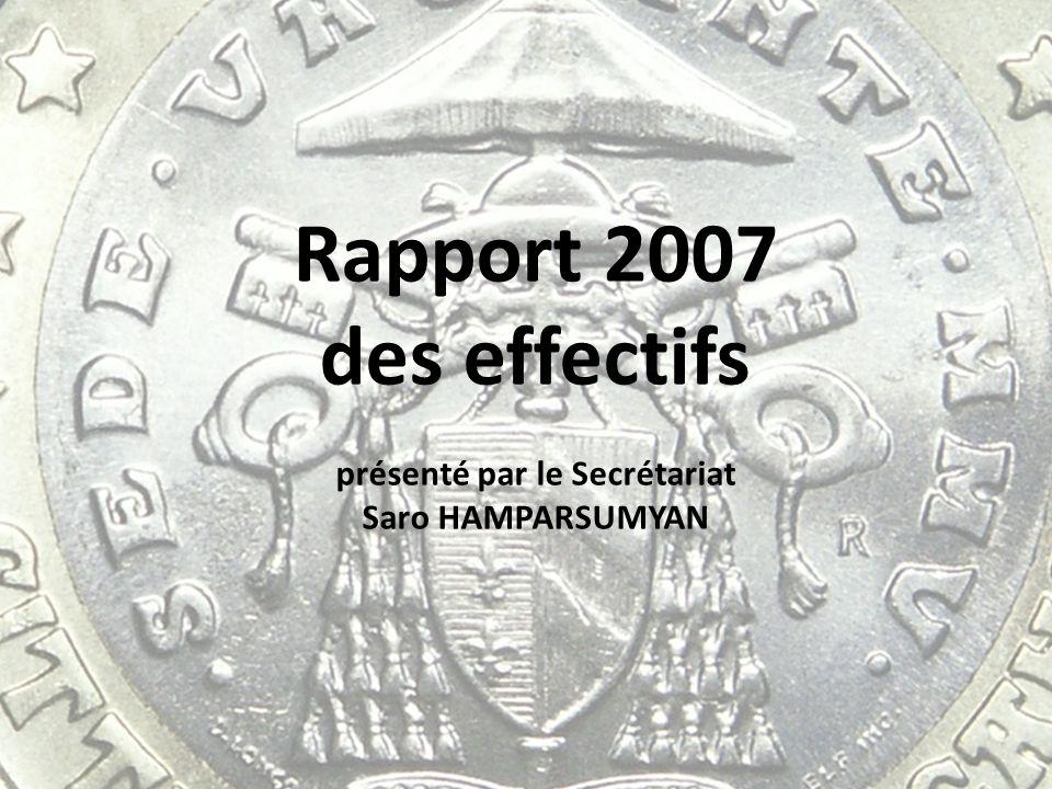 Rapport 2007 des effectifs présenté par le Secrétariat Saro HAMPARSUMYAN
