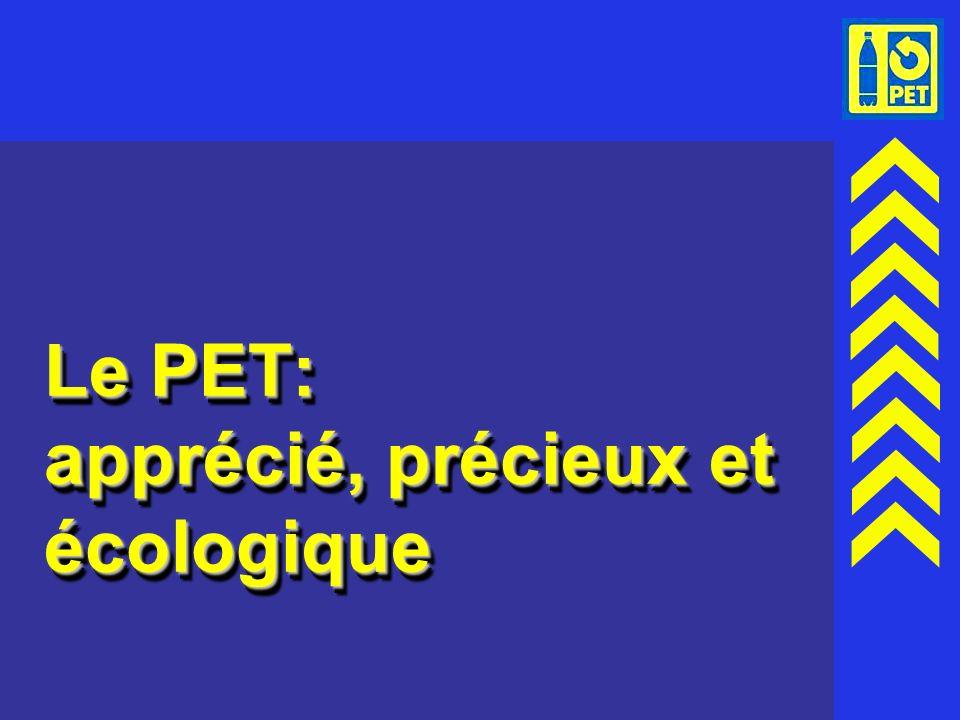 1 Le PET: apprécié, précieux et écologique