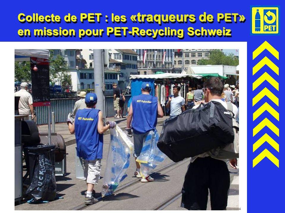 24 Collecte de PET : les «traqueurs de PET » en mission pour PET-Recycling Schweiz