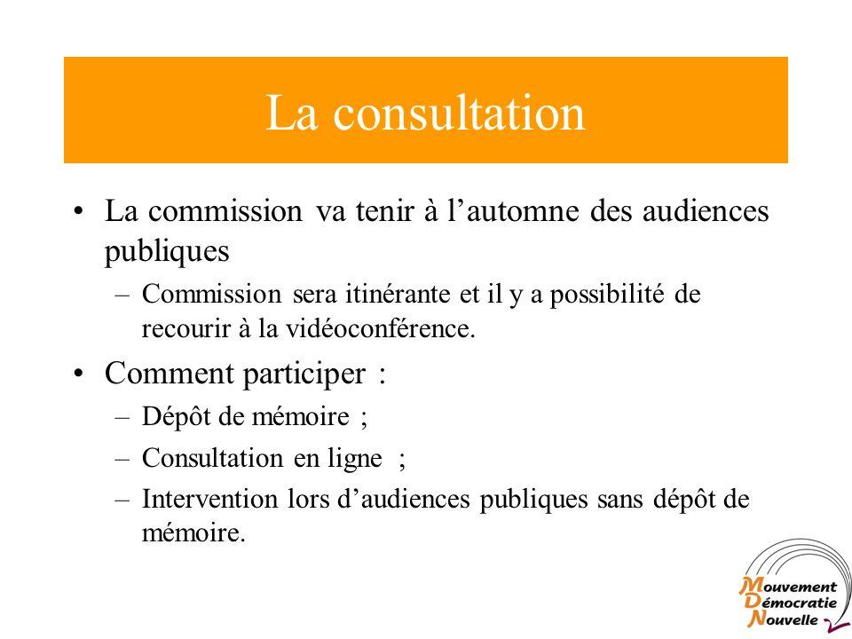 La commission va tenir à lautomne des audiences publiques –Commission sera itinérante et il y a possibilité de recourir à la vidéoconférence.