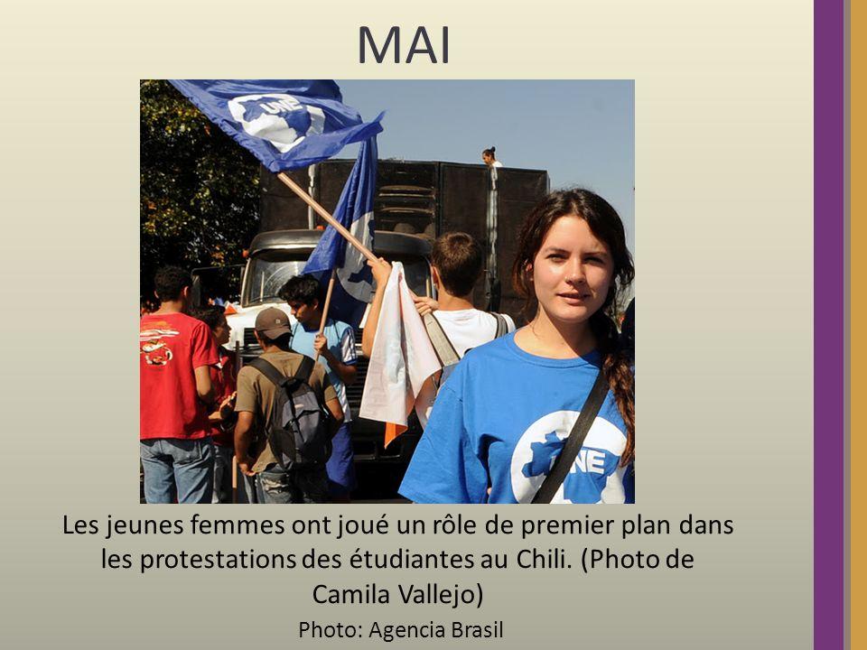 MAI Les jeunes femmes ont joué un rôle de premier plan dans les protestations des étudiantes au Chili.
