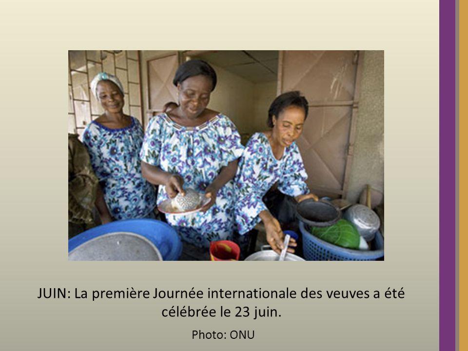 JUIN: La première Journée internationale des veuves a été célébrée le 23 juin. Photo: ONU