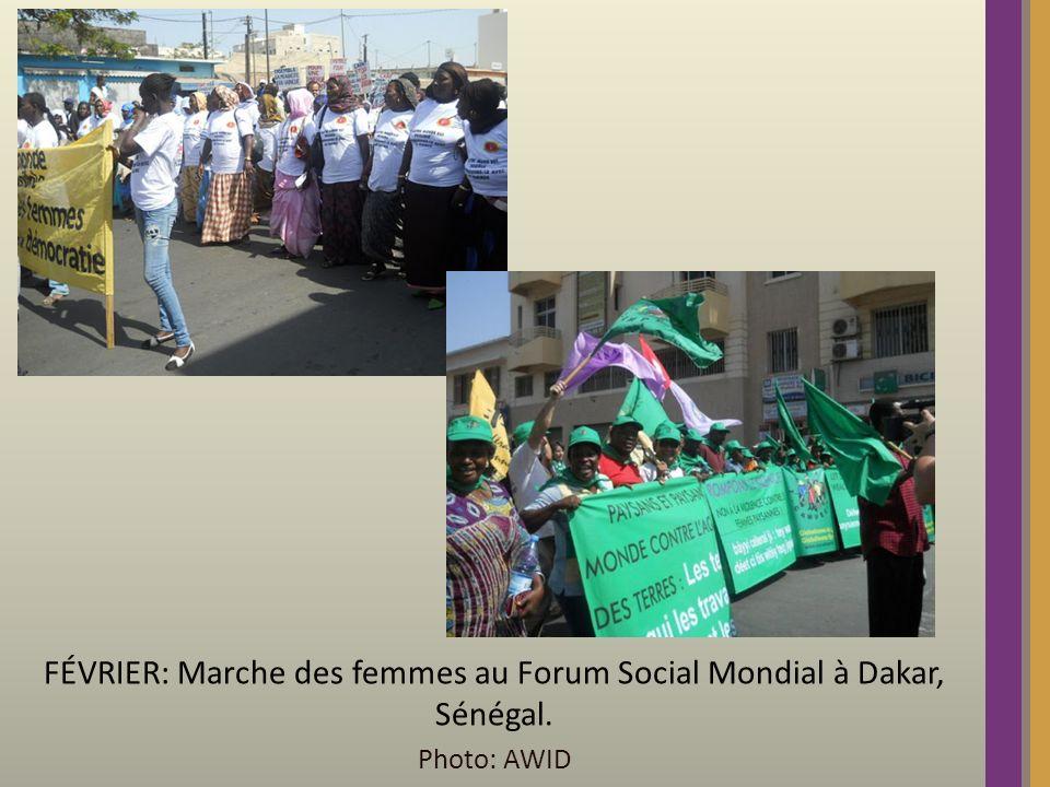 FÉVRIER: Marche des femmes au Forum Social Mondial à Dakar, Sénégal. Photo: AWID