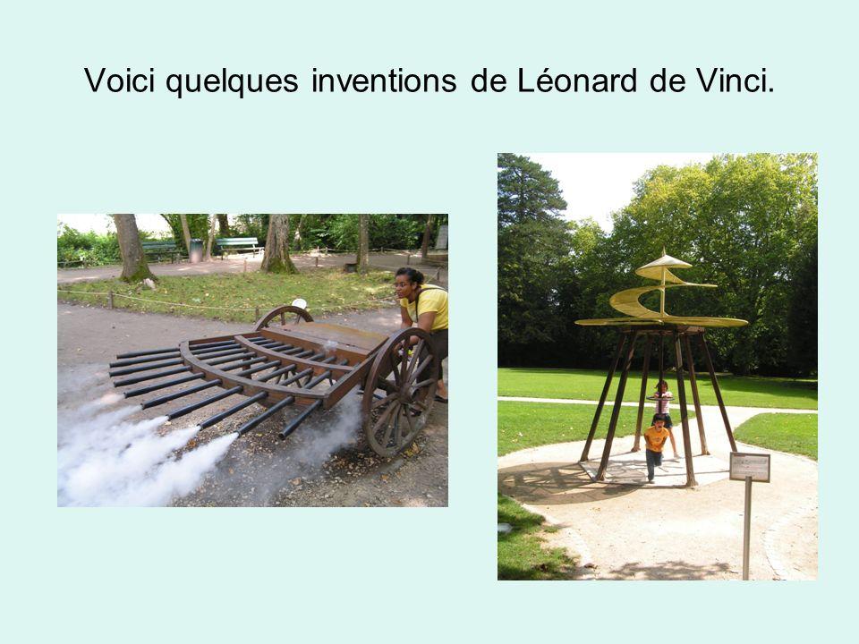 Voici quelques inventions de Léonard de Vinci.