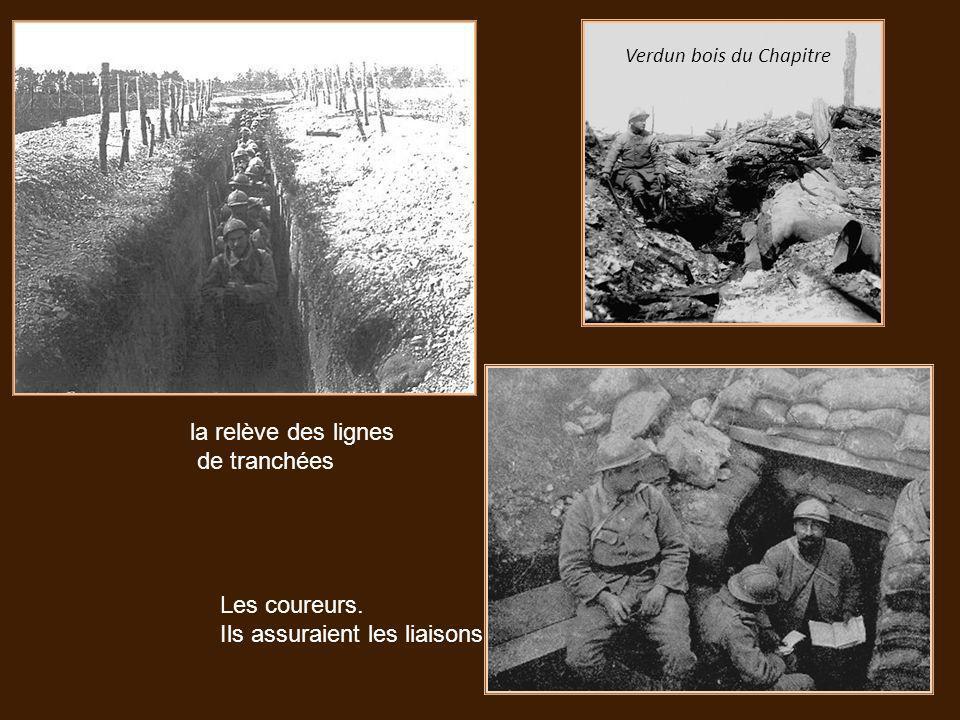 Soldats français du 87 e régiment près de Verdun en 1916