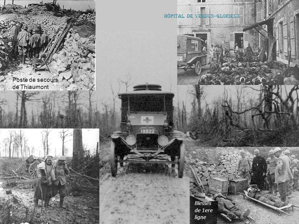Les Allemands enlèvent leurs morts… Verdun poste de secours allemand Allemands à Verdun Pigeon équipé en 1914 par l'armée allemande d'un appareil phot