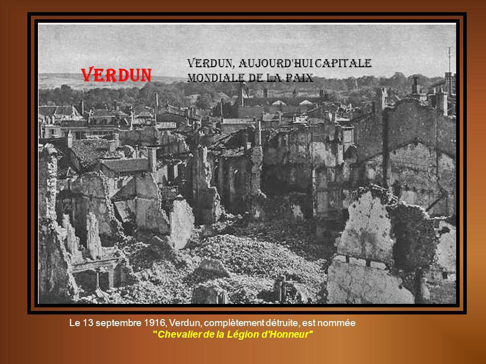 Le bruit et la peur… Verdun, ses tranchées Pièce dissimulée devant Verdun
