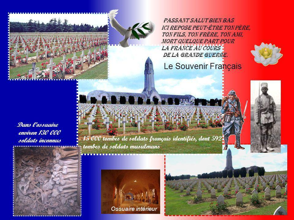 Inauguration de l'ossuaire de Douaumont. Commencée en 1920, l'édification de ce monument n'est achevée qu'en 1932. Il est destiné à abriter les restes