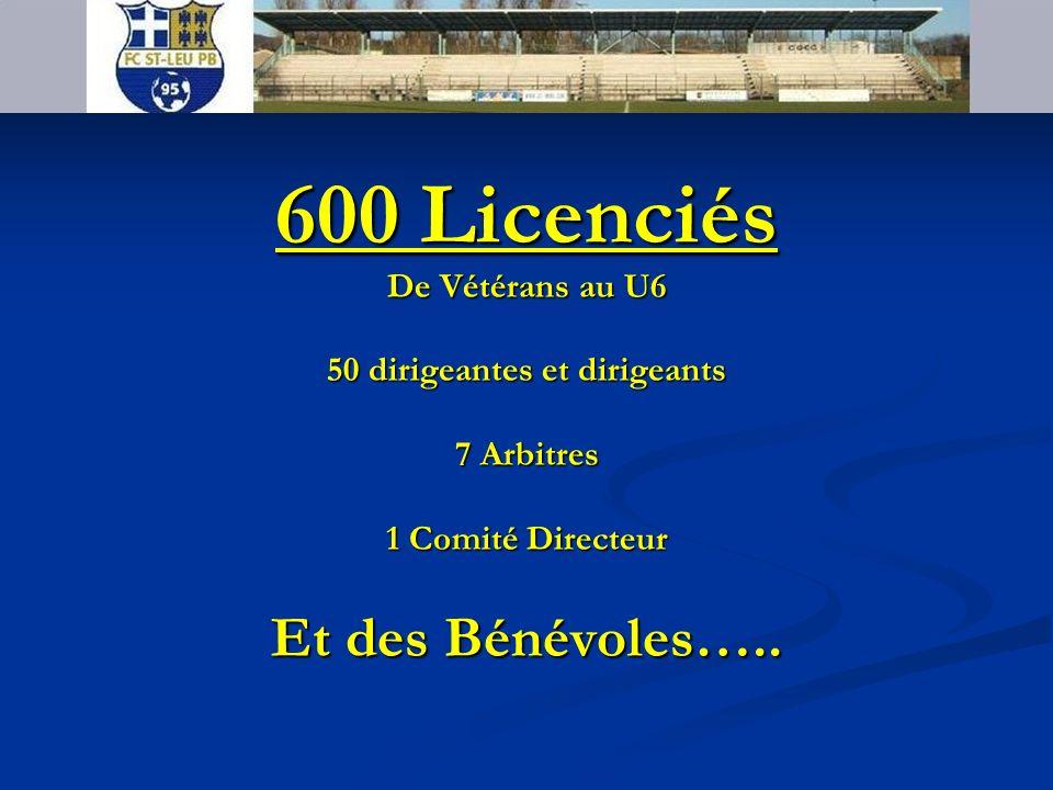 FC SAINT LEU PB 95 600 Licenciés De Vétérans au U6 50 dirigeantes et dirigeants 7 Arbitres 1 Comité Directeur Et des Bénévoles…..