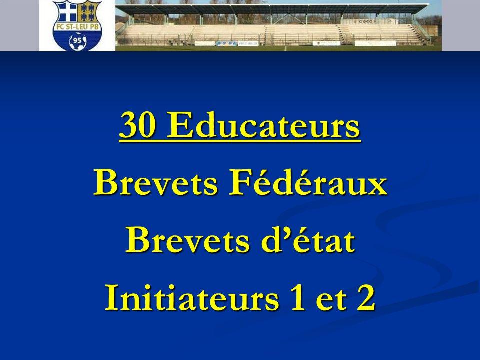 FC SAINT LEU PB 95 30 Educateurs Brevets Fédéraux Brevets détat Initiateurs 1 et 2
