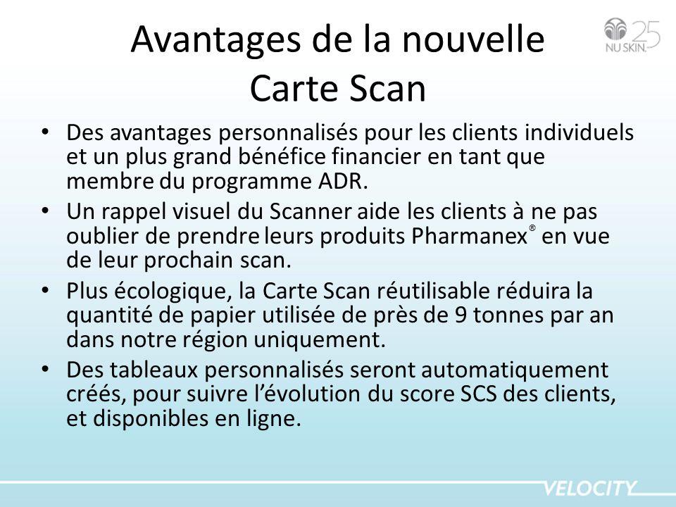 Avantages de la nouvelle Carte Scan Des avantages personnalisés pour les clients individuels et un plus grand bénéfice financier en tant que membre du