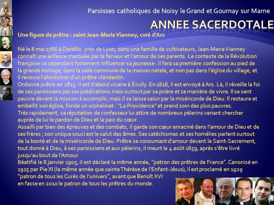 Paroisses catholiques de Noisy le Grand et Gournay sur Marne Comment Jean-Paul II définit-il le rôle des prêtres ? Comment s'exercent concrètement ces