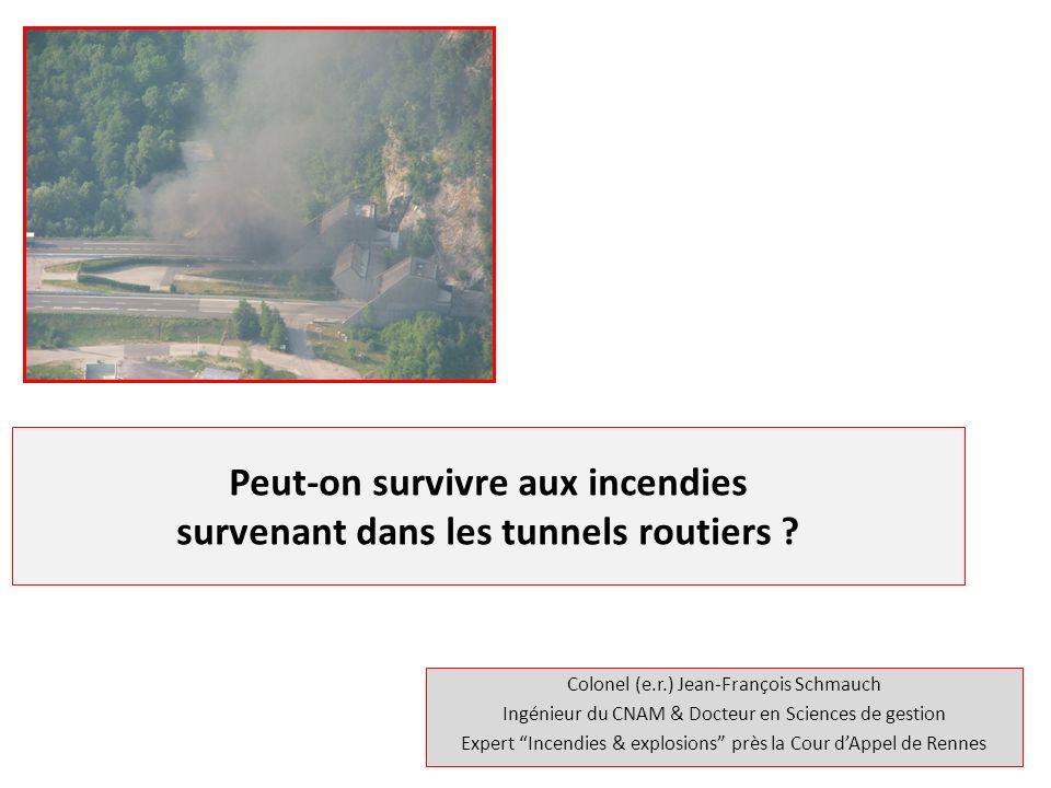 Plan de lexposé Quelques données statistiques résultant de lanalyse de 39 incendies.