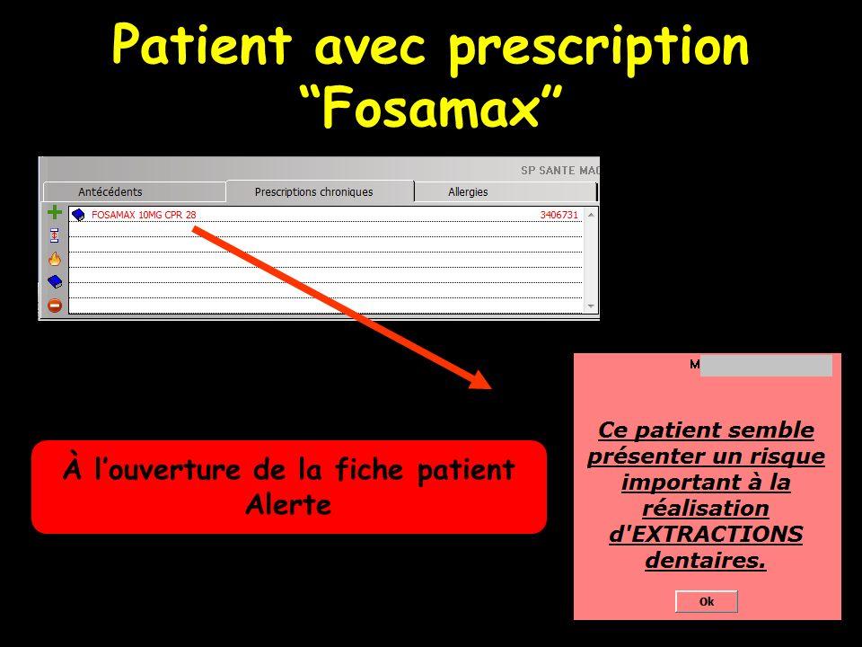 Onglet Anesthésies Permet à louverture de la fiche patient de rechercher contre-indications et allergies