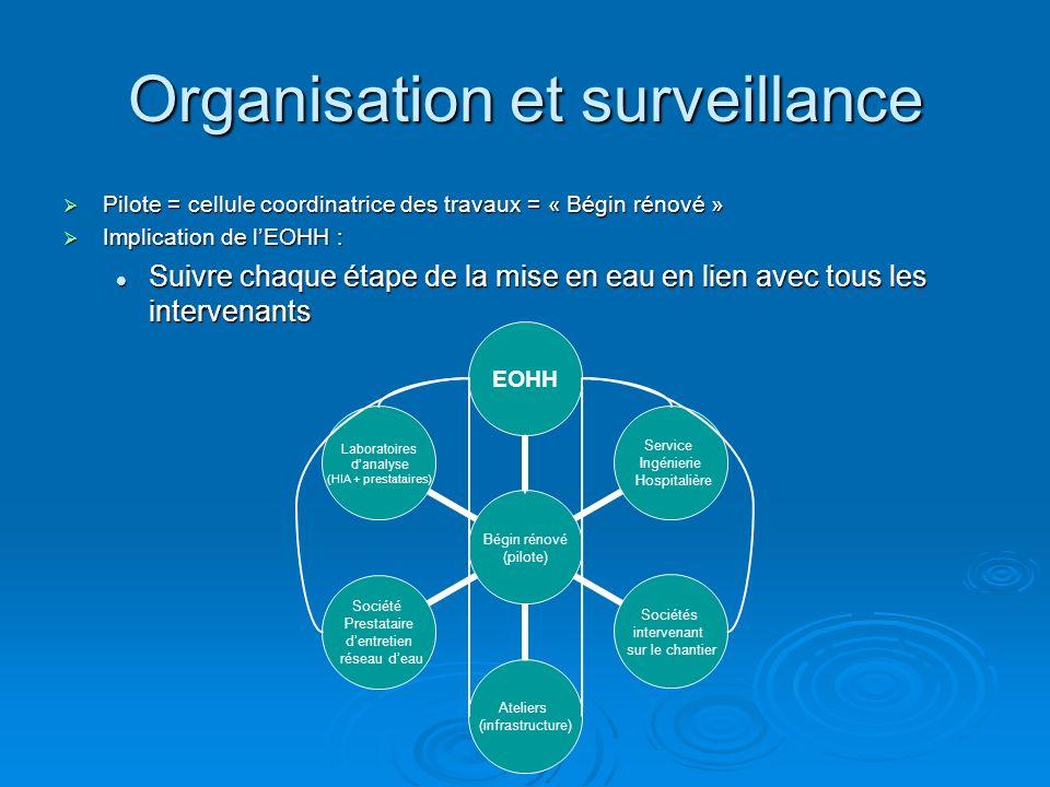 Organisation et surveillance Pilote = cellule coordinatrice des travaux = « Bégin rénové » Pilote = cellule coordinatrice des travaux = « Bégin rénové