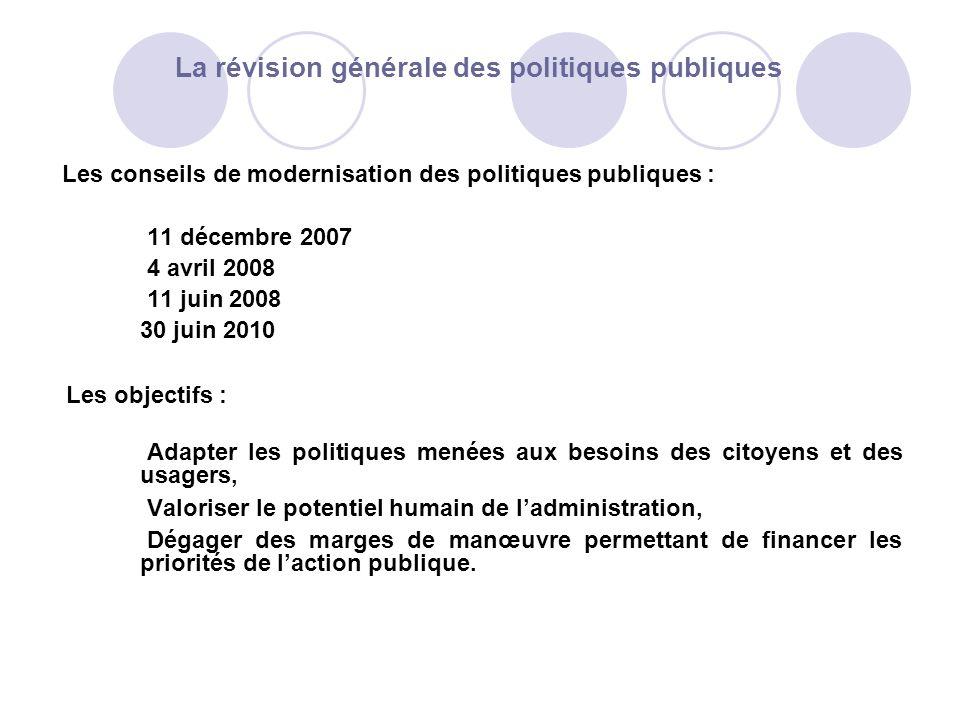 La révision générale des politiques publiques Les conseils de modernisation des politiques publiques : 11 décembre 2007 4 avril 2008 11 juin 2008 30 j