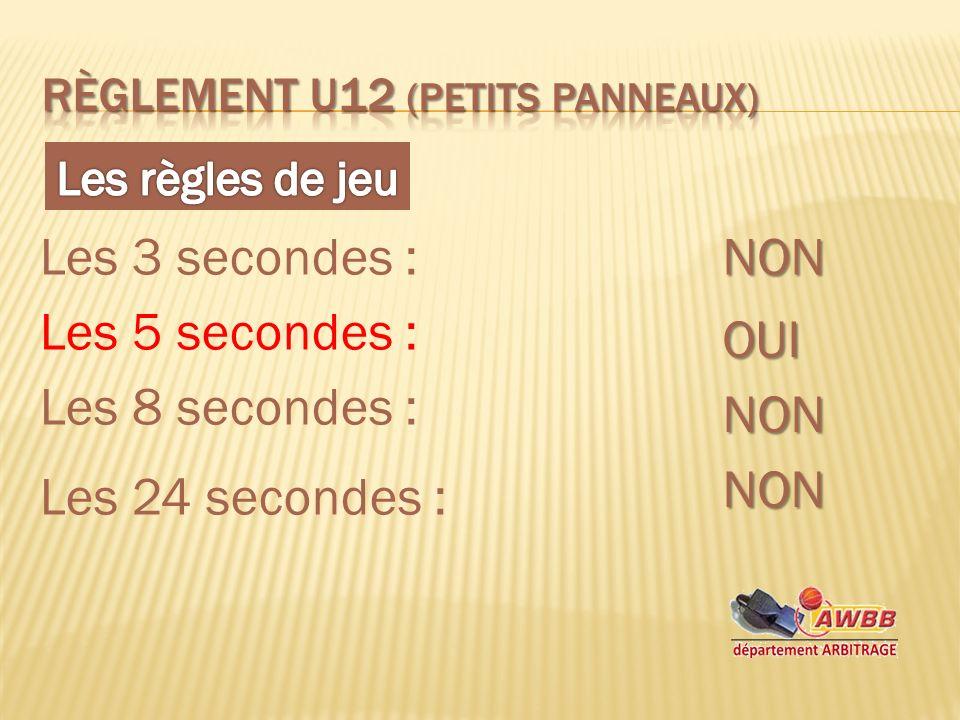 Les 3 secondes :NON Les 5 secondes : OUI Les 8 secondes : NON Les 24 secondes : NON