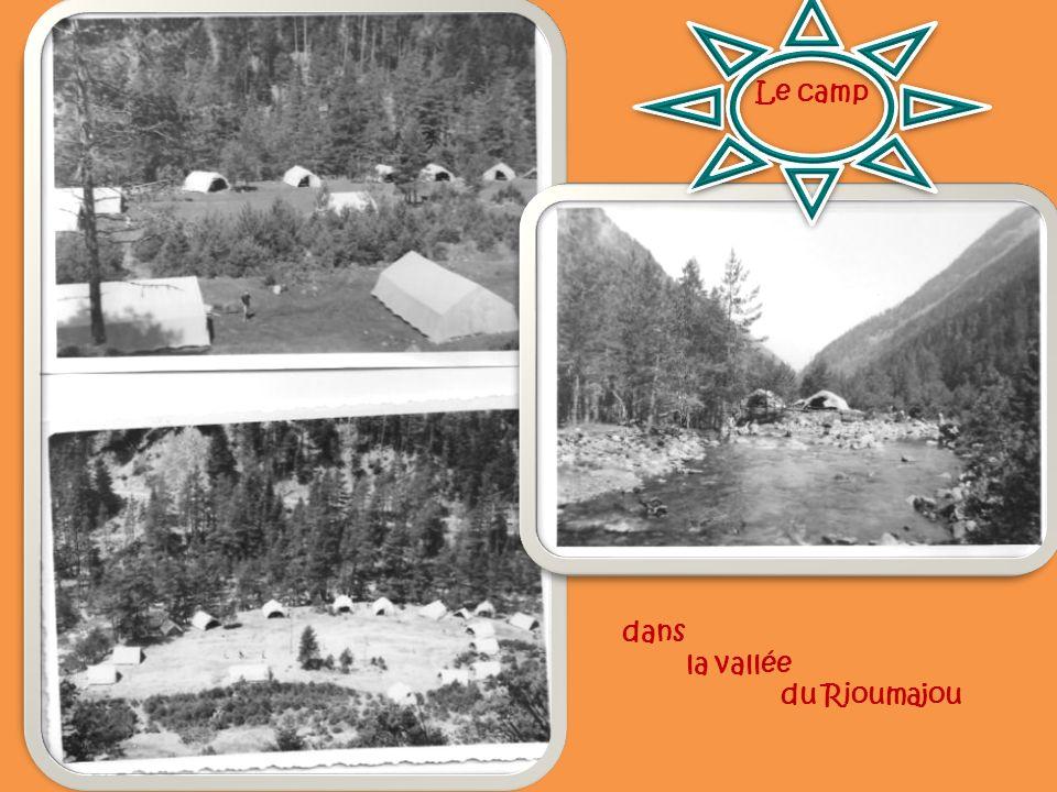 dans la vallée du Rioumajou Le camp