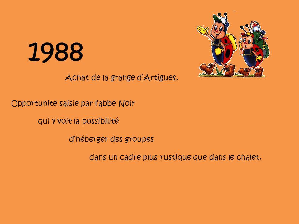 1988 Achat de la grange dArtigues.