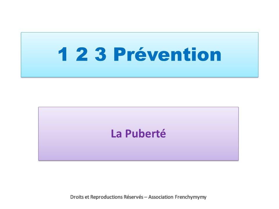 1 2 3 Prévention La Puberté