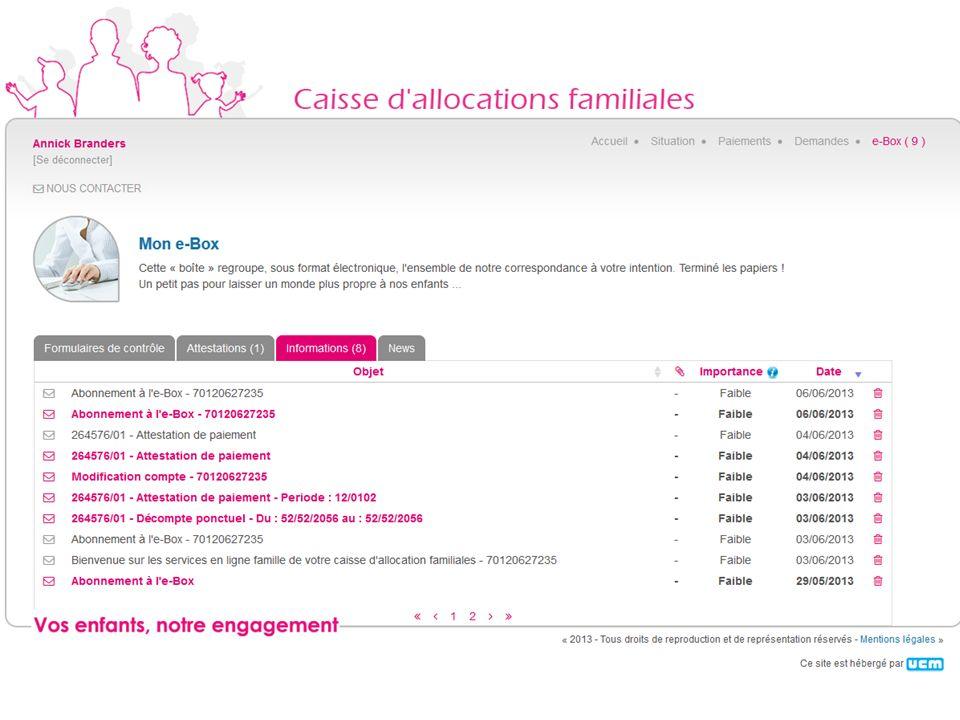 Quatre onglets pour classer vos documents suivant leurs usages Cliquez pour ouvrir le mail que nous vous avons envoyé Classement des documents suivant
