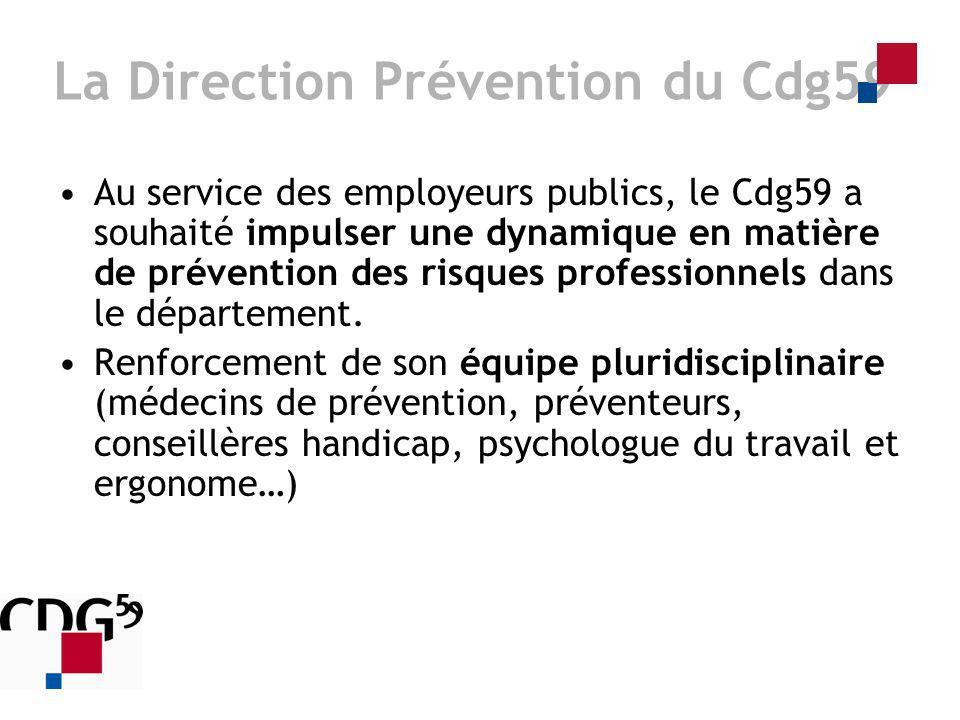 Au service des employeurs publics, le Cdg59 a souhaité impulser une dynamique en matière de prévention des risques professionnels dans le département.